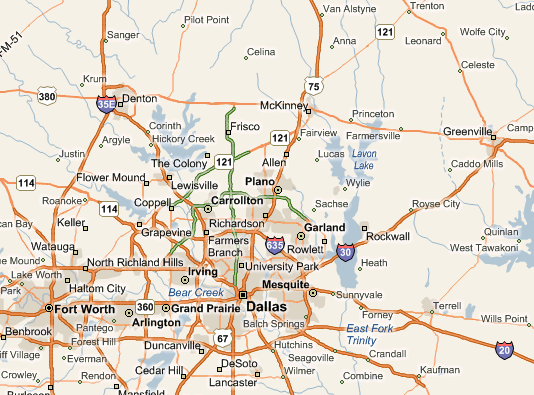Key cities in Texas